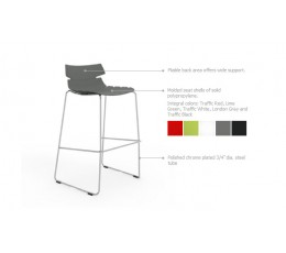 Tikal Bar Stool Polypropylene