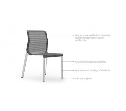 Curvinna Armless Guest Chair